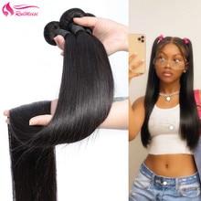 Hair-Bundles 100%Human-Hiar Straight for Women Unprocessed Virgin Natural-Color RUIMEISI