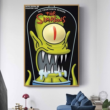 Simpsons Prints Canvas  Poster Painting Wall Art for Living Room & Home Decor - 15 Models 1