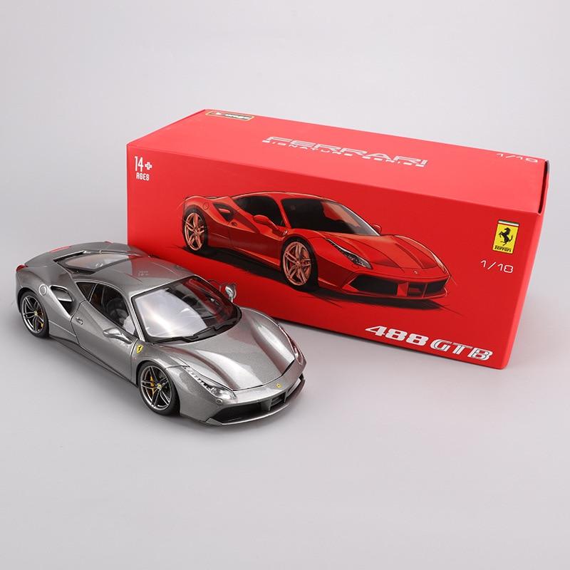Bimeigao 1: 18 Ferrari Car Model 488GTB Hardcover Edition Model Alloy Car Model Sports Car Model Gift