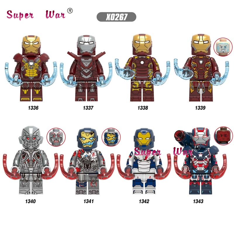 Single Avengers Endgame Iron Man IronMan Legions Ultron Mark17 Mark33 Mark43 Mark45 War Machine Pepper Building Blocks Kids Toys