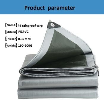Na świeżym powietrzu plandeki PE odporny na deszcz tkaniny krawiec-wykonane ogród kemping plandeki samochodów ciężarowych z baldachimem czy doliczone zostaną dodatkowe opłaty wodoodporny parasol ceraty tanie i dobre opinie TW-AF-269 Instrukcja Aluminium Markizy Nie powlekany Silver and dark green Awnings Quality PE