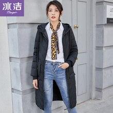 BG Winter Jacket Women Down Coat Female Thick 90% White Duck Jackets Womens Long Coats Warm hoodedJ90131310D