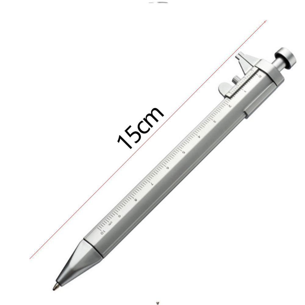 Multifunction 0.5mm Gel Ink Pen Vernier Caliper Roller Ball Pen Stationery Ball-Point Black Ink Drop Shipping