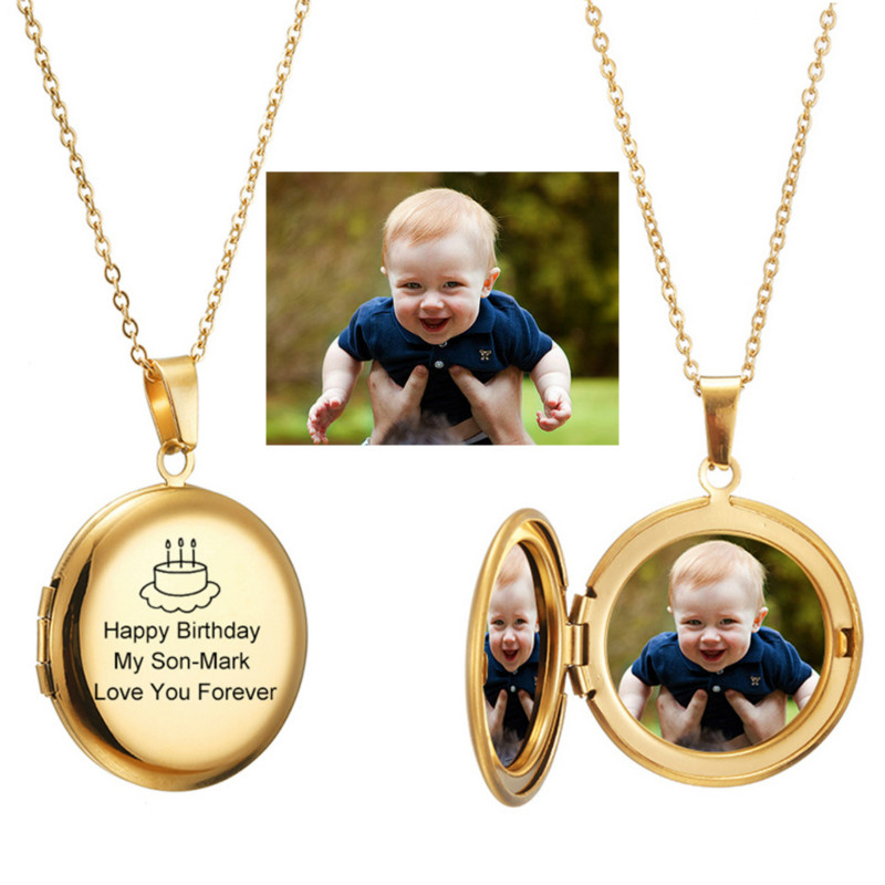 Photo Locket Necklace Custom Name Photo Valentine Lover Gift Mother Daughter Baby Family Personalizd Chokers Necklaces Jewelry