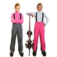 Dziecięce zimowe spodnie narciarskie wodoodporne dziewczęce ciepłe kombinezony chłopięce śniegowe spodnie 8 10 12 lat dziecięce kombinezony snowboardowe dziecięce