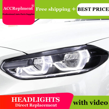 Car Styling LED Head Lamp for BMW 1 series F52 headlights 2016-2020 For 1 series F52 LED H7 hid Q5 Bi-Xenon Lens low beam
