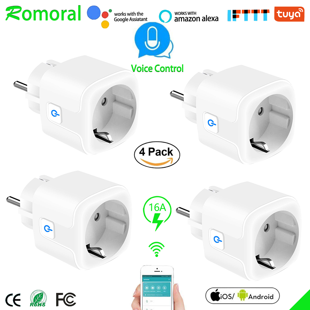 16A Smart WiFi Plug with Power Monitor wifi wireless Smart Socket Outlet with Alexa Google Home Voice Control