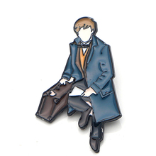 Fantastic Beasts Newt Scamander Zinc Alloy pin para backpack pride clothesmedal for bag shirt hat insignia badges brooches E0383 фигурка newt scamander 4 см