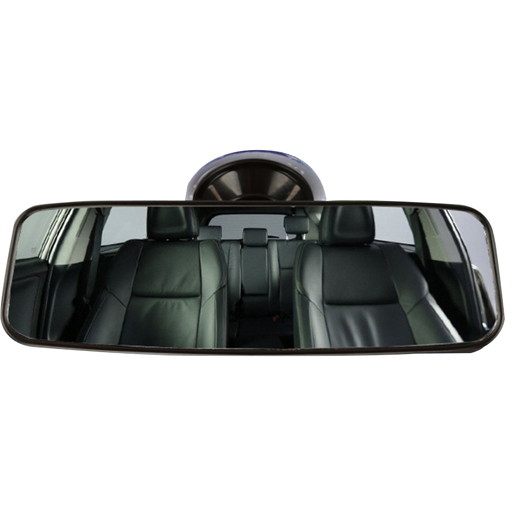 Car Universal Wide Flat Interior Suction Cup Rear View Clear Glass Mirror 290MM