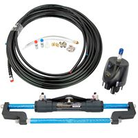 300HP Hydraulic Outboard Steering System with Helm Pump Cylinder Tubing Kit