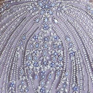 Image 5 - YOUXI יוקרה חרוזים קריסטל ערב שמלות 2020 סקסי Sheer צוואר לבנדר בת ים פורמליות לנשף שמלות לנשים ללא שרוולים