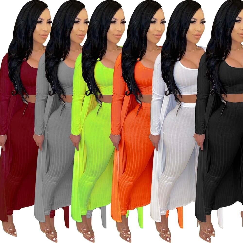 2020 kadın setleri yaz eşofman spor tam kollu üstleri + pantolon + Coats Suit 3 parça seti gece kıyafetler 2 adet sokak GL7088