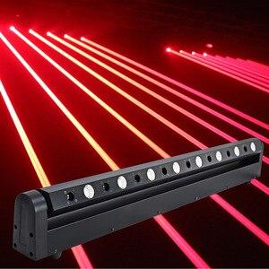 Image 1 - Led ruchoma głowica pokaz laserowy projektor świetlny 8 głowa czerwona wiązka tłuszczu 3w Bar Dj na wieczór muzyczny, teatr, Pub