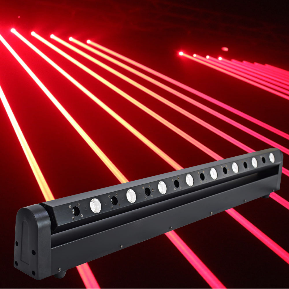 Led Moving Head Laser Show Light Projector 8 Head Red Fat Beam Laser Led 3w Bar Dj For Music Evening, Theater ,Pub