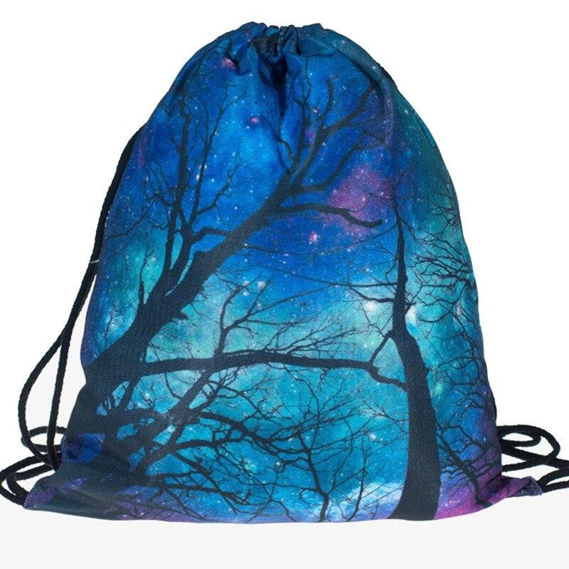 Drawstring Backpack Fashion Women 3D  Printing Travel Softback Men Mochila Mobile Phone Drawstring Bags Unisex Women's Shoulder