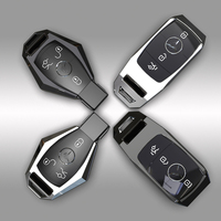 High-quality Metal Car Key Case Cover For Mercedes Benz W203 W210 W211 W124 W202 W204 W212 W176 AMG Accessories Keychain