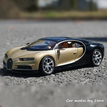 WELLY 1:24 Bugatti Chiron gold Car sports car simulation alloy car model crafts decoration collection toy tools gift welly 1 24 subaru impreza wrx sti sports car simulation alloy car model crafts decoration collection toy tools gift