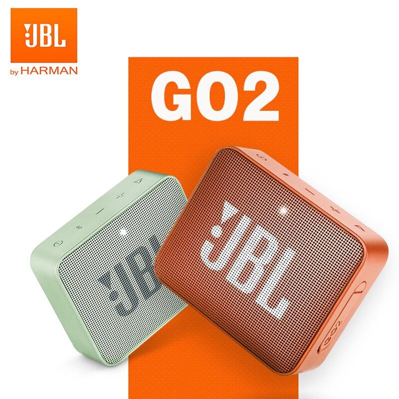JBL-altavoz inalámbrico GO 2 Original con Bluetooth, minialtavoz resistente al agua IPX7 con batería recargable y micrófono