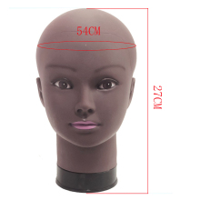 Afro Bald Mannequin Head Black Female Manikin Mode Professional Cosmetology For Wig Making Dummy 54cm Heads