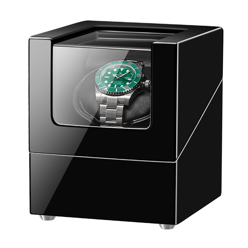 JQUEEN Single Watch Winder with Quiet Motor MDF Black|Watch Winders| |  - title=