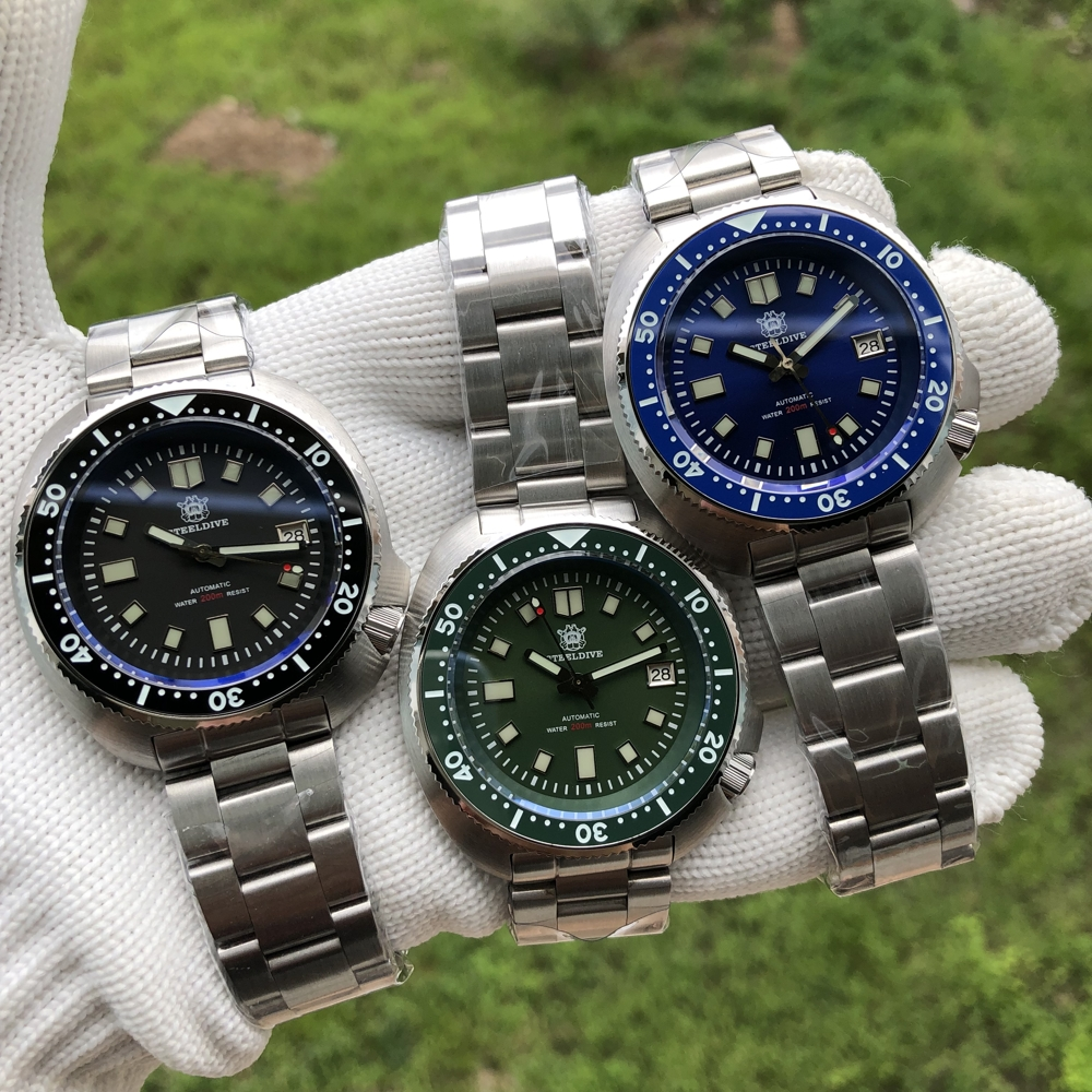 Steeldive SD1970 White Date Background 200M Wateproof NH35 6105 Turtle Automatic Dive Diver Watch 4