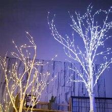 Светодиодный светильник на елку для рождества, серебряная лампа в форме березы, украшения для дома, праздника, ЕС, современный креативный светильник на елку, Прямая поставка