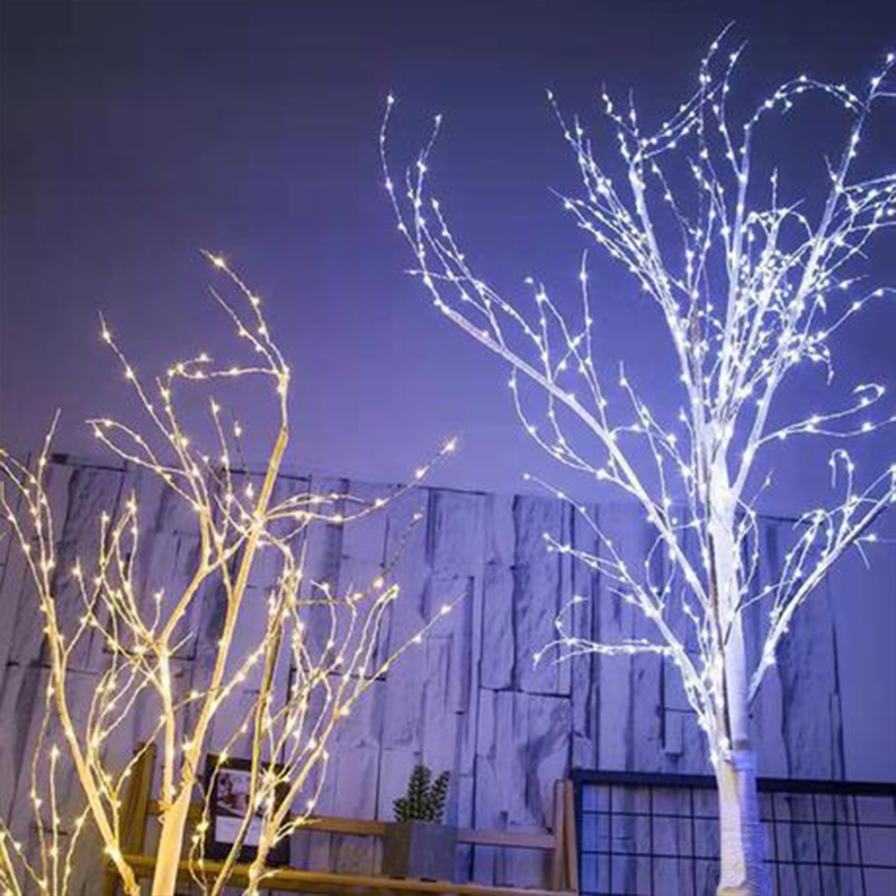 LED Tree Light For Silver Birch Lamp Decorations Home Holiday EU Indoor Modern Creative Tree Lighting Drop Shipping