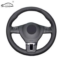 Opaska na kierownicę ze sztucznej skóry dla Gol Tiguan Passat B7 Passat CC Touran/pokrowiec na kierownicę na zamówienie