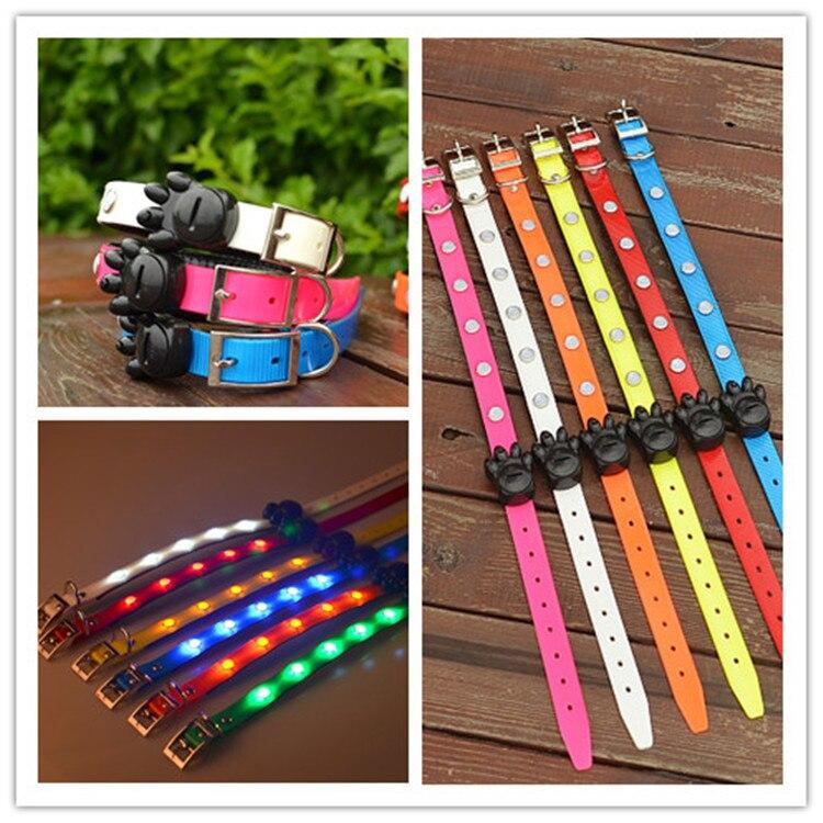 Pet TPU Luminous Collar Gemstone LED Dog Strap Dog Collar Collar Extra Small Medium Large Dog Teddy Flash Neck Ring