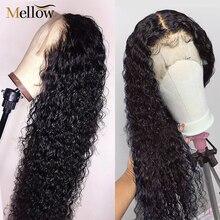 Mellow Pruiken Jerry Krullend Pruiken Braziliaanse Human Hair Bob Lace Front Pruiken Pre Geplukt Met Baby Haar Kant Ftontal Sluiting pruik