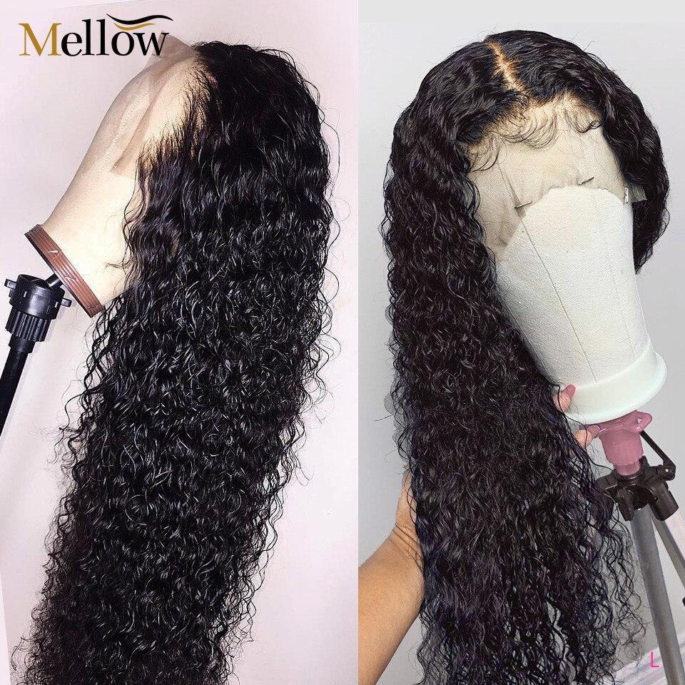 Mellow Perucas Jerry Curly Perucas Bob Cabelo Humano Brasileiro Lace Front Wigs Pré Arrancou Com o Cabelo Do Bebê Fechamento Rendas Ftontal peruca