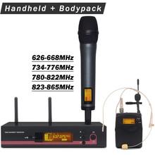 PRO 100 G3 UHF беспроводной микрофон караоке система с 122 g3 Body pack ручной передатчик гарнитура микрофон-петличка с зажимом для галстука Mic