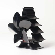 Вентилятор для камина Рождественская елка черный высокотемпературный Вентилятор охлаждения без экономии электроэнергии