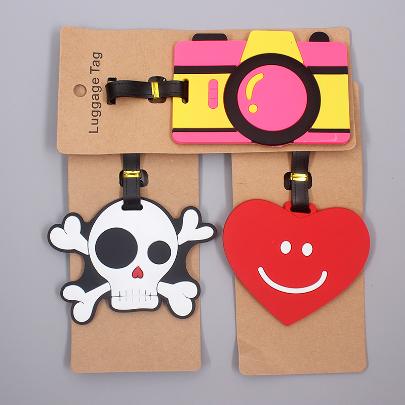 Creative Skull & Camera Luggage Travel Accessories Tag Silica Gel Suitcase ID Addres Holder Baggage Boarding Tag Portable Label