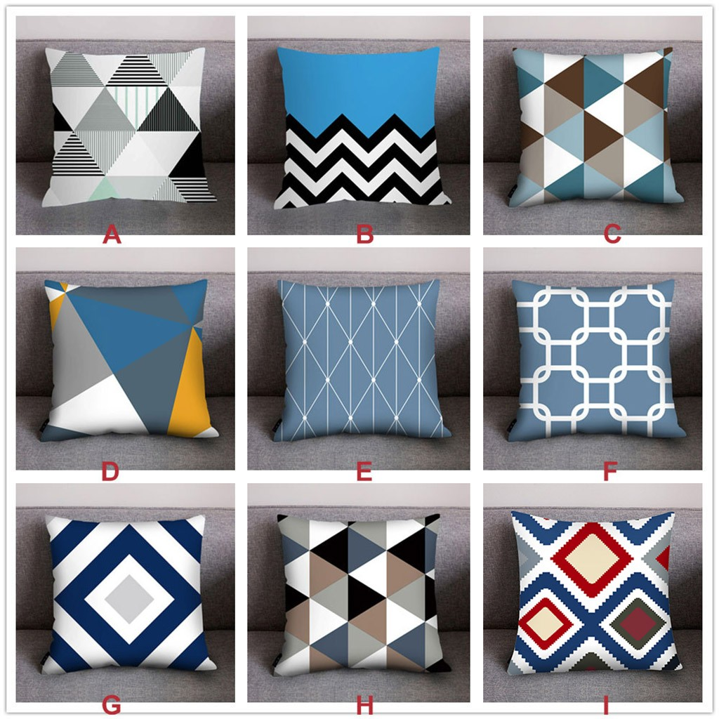 Modern Abstract Pillow Cover Art Geometric Cushion Cover Color Irregular Diamond Pillowcase Sofa Home Decorative Throw Pillows Pillow Case Aliexpress