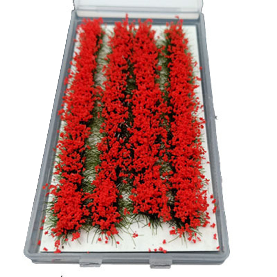 4Pcs/set DIY Miniature Model Scenario Material Long Flower Cluster For 1:35/1:48/1:72/1:87 Scale Sand Table - Red