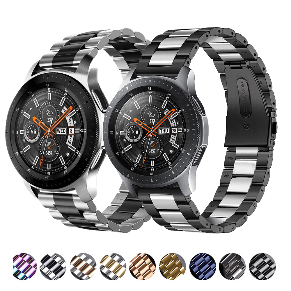 Metal strap Compatible with Samsung watch 3 46mm/Active 2/Huawei watch GT GT2/Amazfit GTR for 22mm 20mm Replacement metal strap