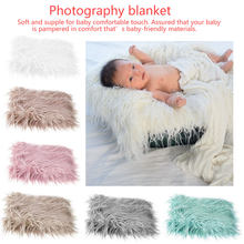 80 x 50cm Newborn Baby Infant Photo Blanket Fake Fur Rug Blankets Plush Photography Background Props Basket Stuffer Filler(China)