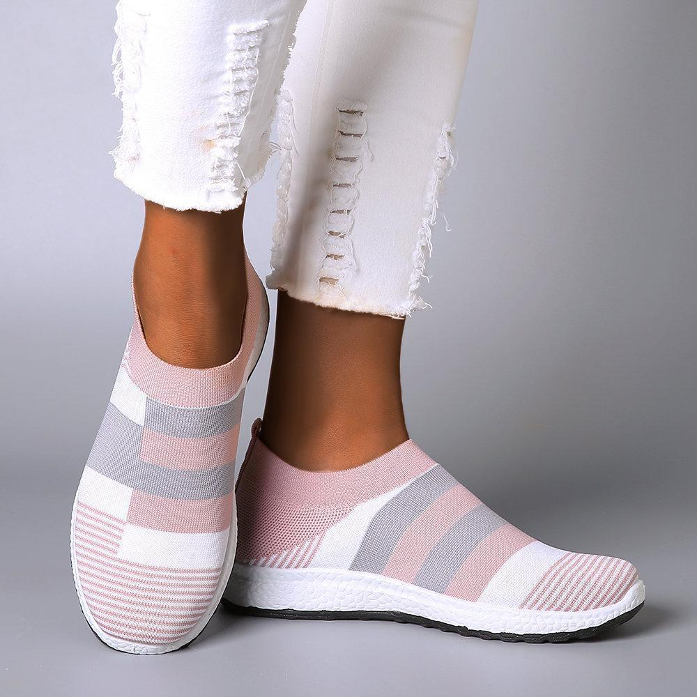 Fashion Women Sneakers Vulcanized Shoes Sock Sneakers Women Summer Slip On Flat Shoes Women Plus Size Loafers Zapatos De Mujer