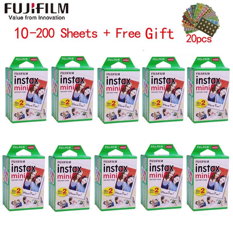 10 200 folhas fujifilm instax mini 9 filme borda branca 3 Polegada filme largo para câmera instantânea mini 8 7s 25 50s 90 papel de foto|wide film|instax minifujifilm instax mini -