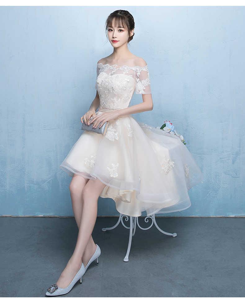 Vestidos de Noche estilo Cheongsam elegante vestido de malla de novia champán vestidos de princesa para banquete vestido de boda chino