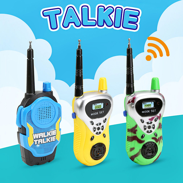 2pc/set Wireless Walkie Talkies Toys Kids Funny Gadget Radio Talkie Parent-child Interactive Game Electronic Toys Children Gift