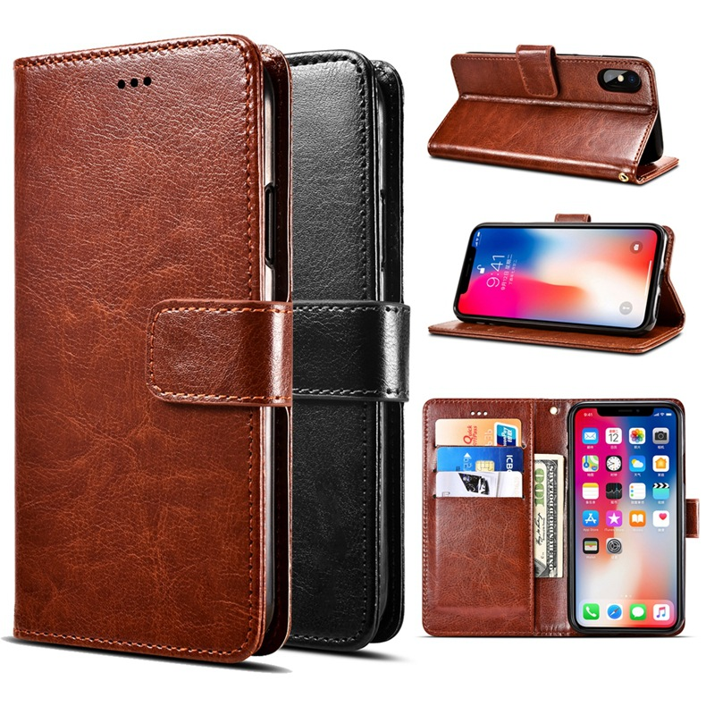 Case for Samsung <font><b>Galaxy</b></font> <font><b>S10E</b></font> S10 Lite Plus A2 Core A3 A5 A6 A7 Phone Case Leather Flip Wallet Magnetic Cover image