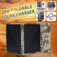 2019 New EORY 25W 5V Foldable Solar Panel Solar Power Bank Solar Cells Pack with Dual USB Port for Backpack Camping Hiking