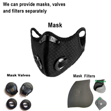Cycling Face Mask Valve with Filter Reusable and Washable Breathing Valves Sport Equipment Anti Pollution Facemask