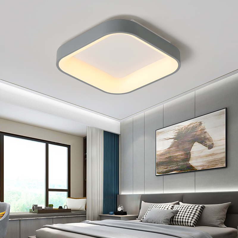 cheapest BOTIMI 220V 110V Ceiling Chandelier For Living Room Modern White Round Lustre Wooden Bedroom Lights Surface Mounted Indoor Lamps