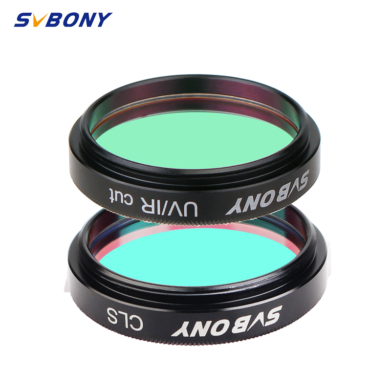SVBONY 1.25'' UV-IR + CLS 2 Pcs Elimination Of Light Pollution Filters For Astronomy Telescope Eyepiece Observations Of Deep Sky