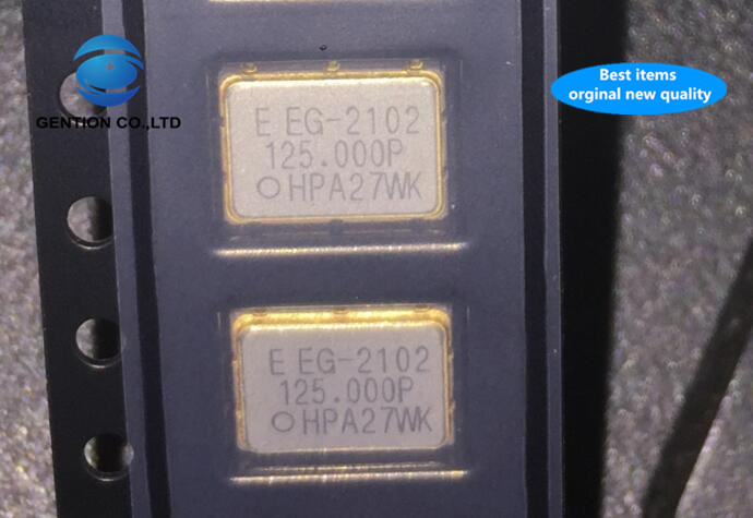 2pcs 100% New And Orginal EG-2102CA 3.3V PECL LVPECL Differential Patch Crystal 125M 125MHZ