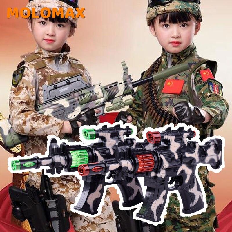Children's Toy Boy Submachine Gun Electric Simulation Pistol Submachine Gun Music Camouflage Gun Christmas Birthday Kids Gift
