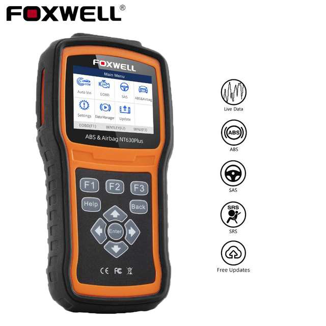 Foxwell NT630 Plus OBD2 Car Diagnostic Tool ABS Bleeding Airbag Reset SAS Calibration Code Reader ODB2 OBD2 Automotive Scanner